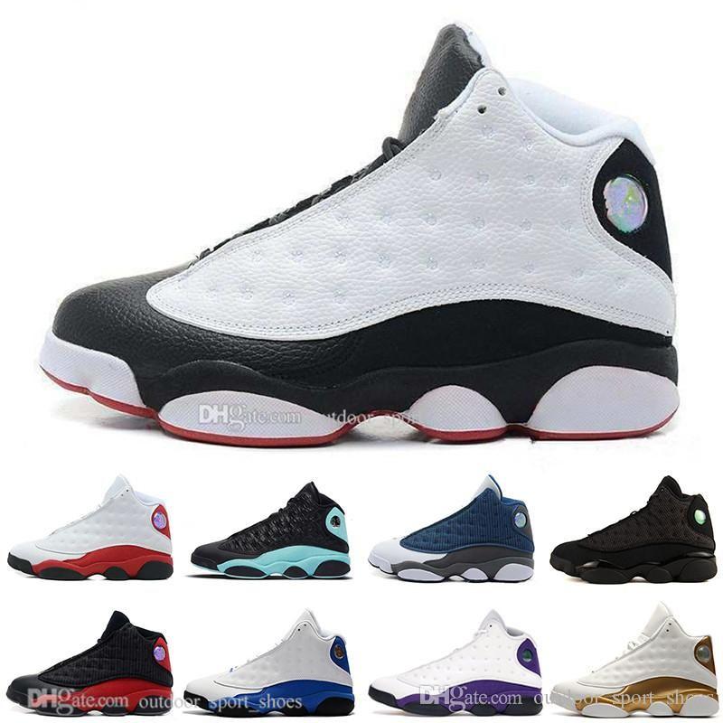 Yeni 13 13s erkek basketbol ayakkabıları Lakers'ı gelmesi Rakipler şanslı yeşil Kara Kedi Kaptan Amerika erkek Tasarımcı Atletizm spor ayakkabı 7-13