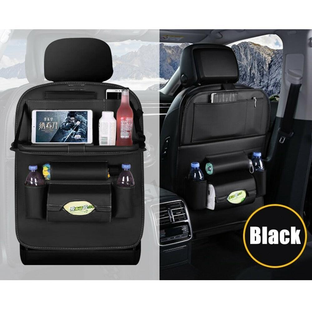 Car Back Seat Organizer Car Seat Protector With Leather Foldable