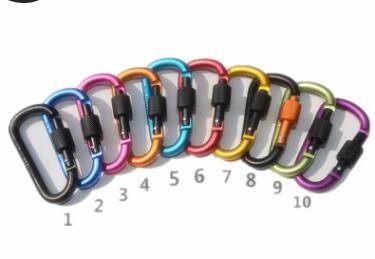 مع قفل حلقة تسلق سبائك الألومنيوم D نوع شنقا البندق الإبزيم كليب عالية القوة المضادة ملابس الظهر حلقة مفاتيح أعلى جودة