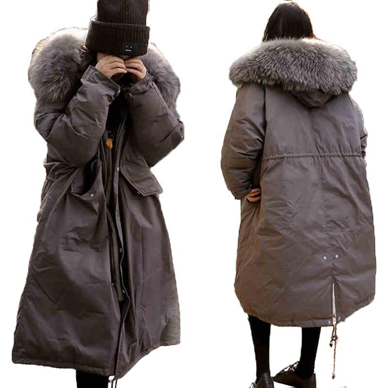 2018 Nouvelle Parkas Femme Manteau d'hiver Épaissir chaud manteaux de coton dames Veste d'hiver pour femmes Outwear Parkas femmes à capuche veste vers le bas
