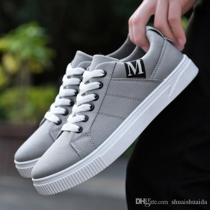 2019 Fashion casual canvas men shoes Ventilation Sports runing flat shoes Non-slip Four Seasons Shoes for Business Work Young students YS320