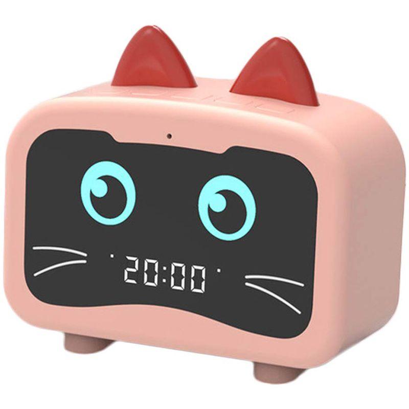 Будильник Радио с Bluetooth Cat Ears диктор, цифровой FM-радио, Hands Free HD Зов, USB зарядный порт для тяжелых шпал Ho
