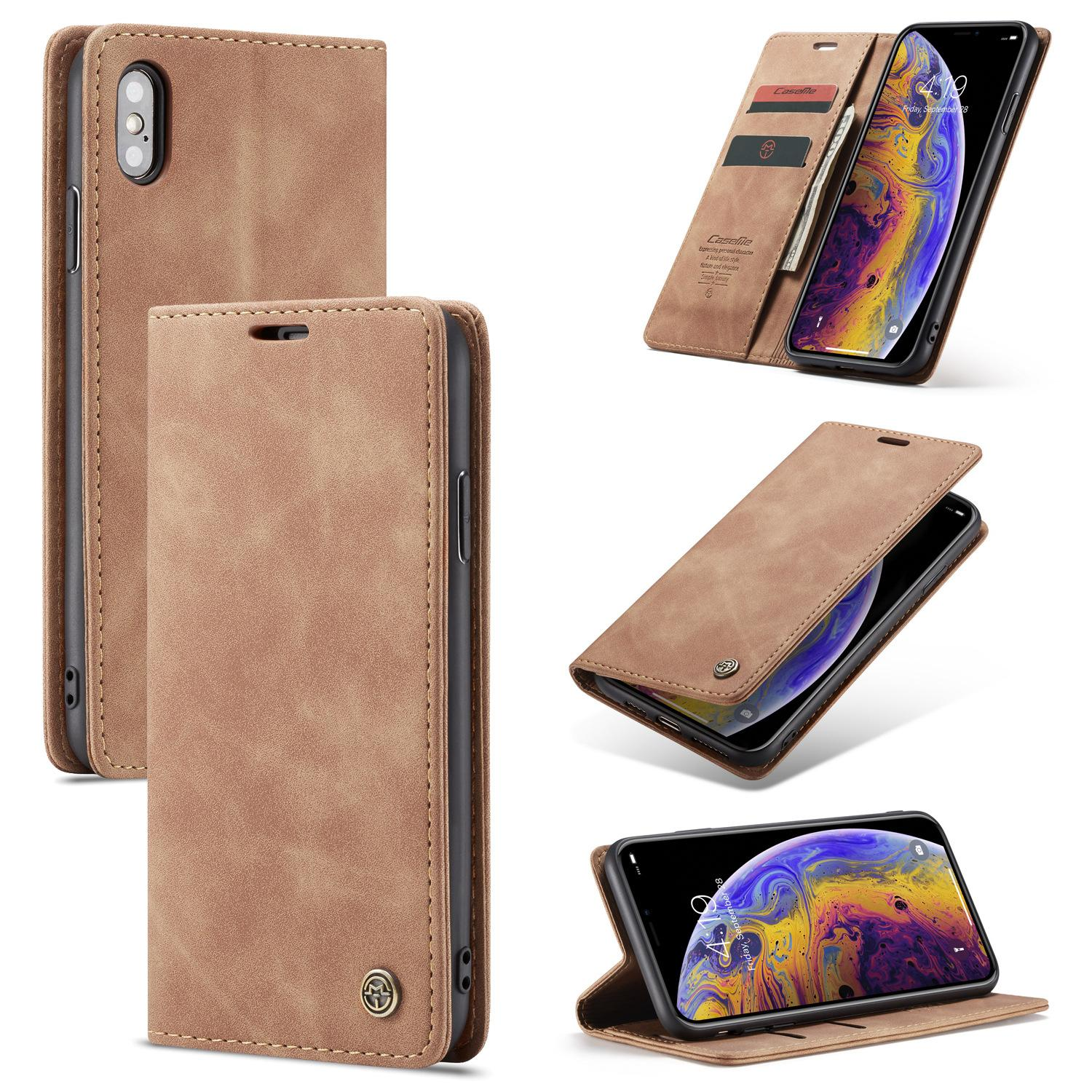 Luxury PU+TPU Hybrid Leather Wallet Protection Case for Apple iPhone 11 Pro Max Flip Cover 2 card solt With Card Holder