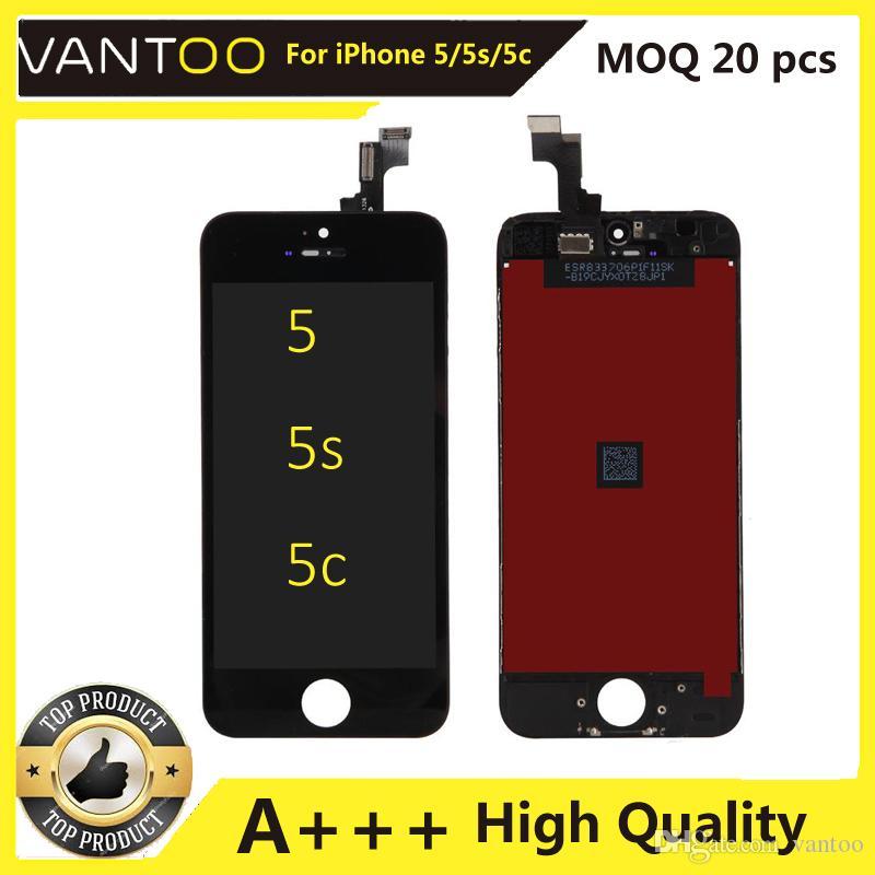 아이폰 5 5S 5C 터치 스크린 디지타이저 어셈블리 교체 LCD 터치 패널 100 % 100 % 원래 LCD 디스플레이 테스트