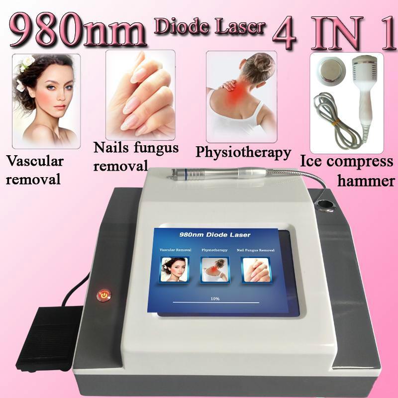 4 en 1 láser de diodo láser de 980 nm de eliminación vascular, máquina de eliminación de venas araña fisioterapia lipólisis equipos de belleza para la venta