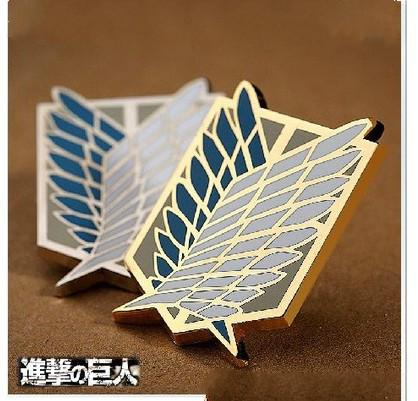 Attack on Titan Badge Anime Peripheral Pins Scout Regiment Brooch Survey Corps Erwin Smith Cosplay Costume Accessories
