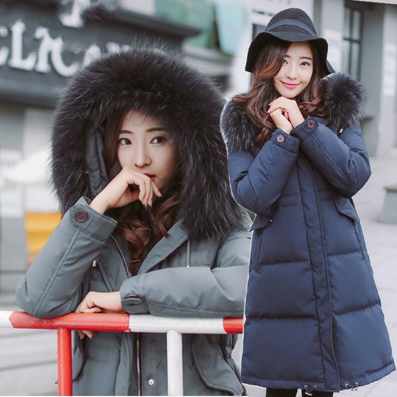 Inverno 2020 Down Jacket donna con cappuccio di pelliccia reale spessore collare Anatra Piumini per le donne Cappotto Parka Chaqueta Mujer KJ373 s