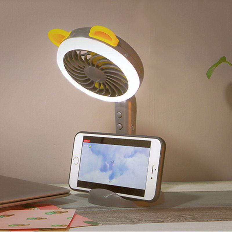 Mini Handheld Fan Portable USB Rechargeable Battery Desktop Table Cooling Fan with Beauty Selfie led Flash Light Lamp Function