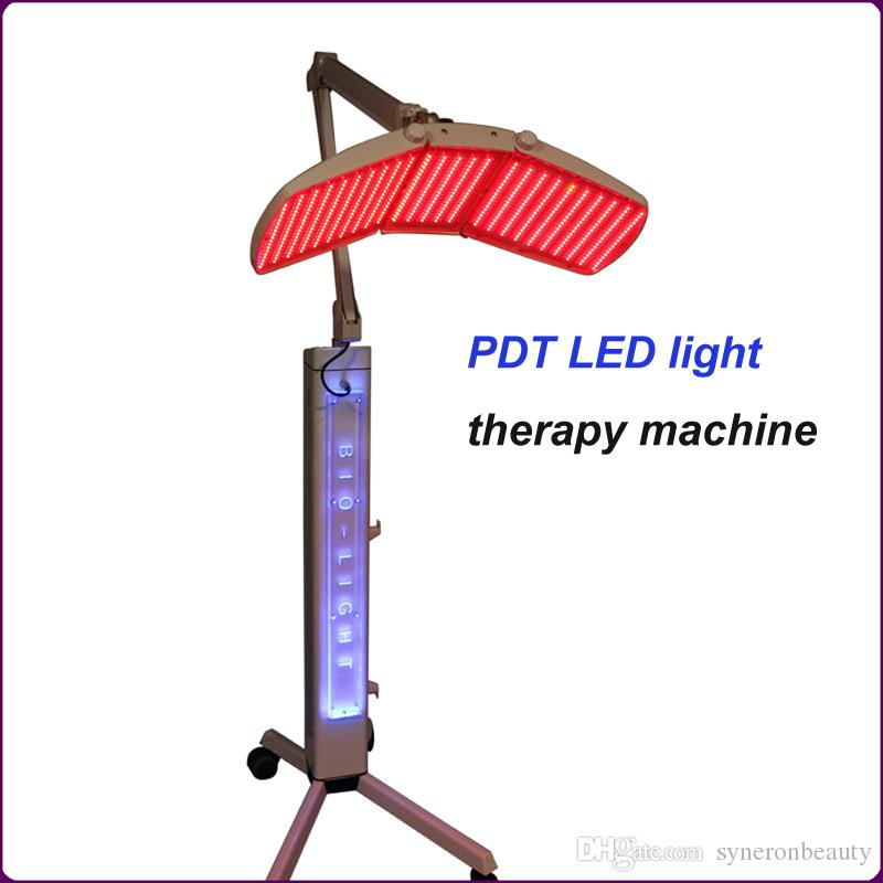 HOT!!! Top quality Floor Standing Professional led pdt bio-light therapy machine Red light +Blue light + Infrared light therapy