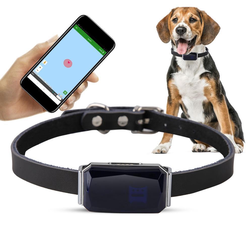 Pet Tracker GPS IP67 a prueba de agua collar de perro ajustable práctico collar de seguimiento del gato del perro Anti-Perdida perro rastreador para Mascotas