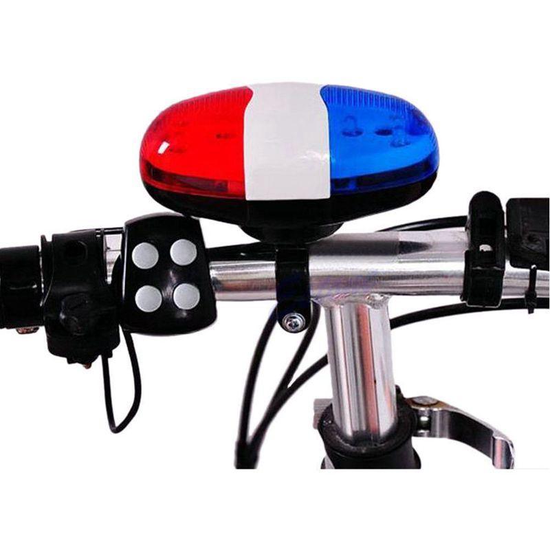 Bell de la bicicleta 6 LED 4 tono de bocina de luz LED sirena electrónica timbres de bicicleta para niños accesorios de la bici