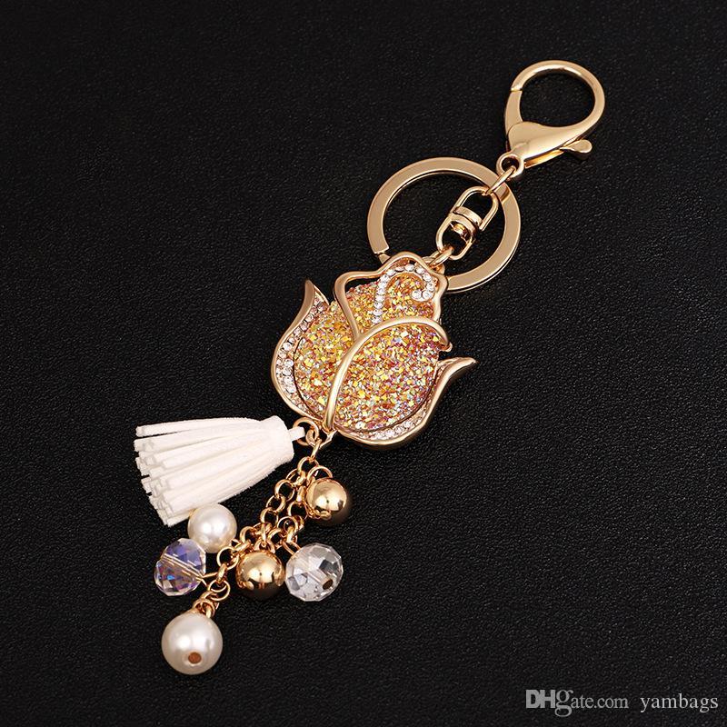 Pendant Pearl Ring Gifts Jewelry Bag Key Chain KeyChain Tassel Keyring