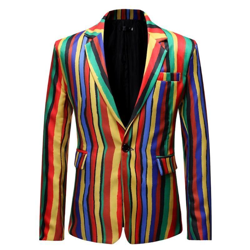Terno listrado JAYCOSIN Suit Men Blazer Men Masculino lapela Slim Fit Elegante Blazer Brasão Jacket Mens Wedding High Fashion