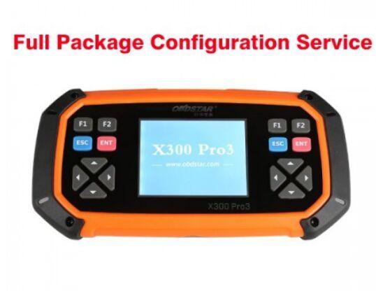 2019 OBDSTAR X300 PRO3 Anahtar Ana Tam Paket Yapılandırması Hizmeti