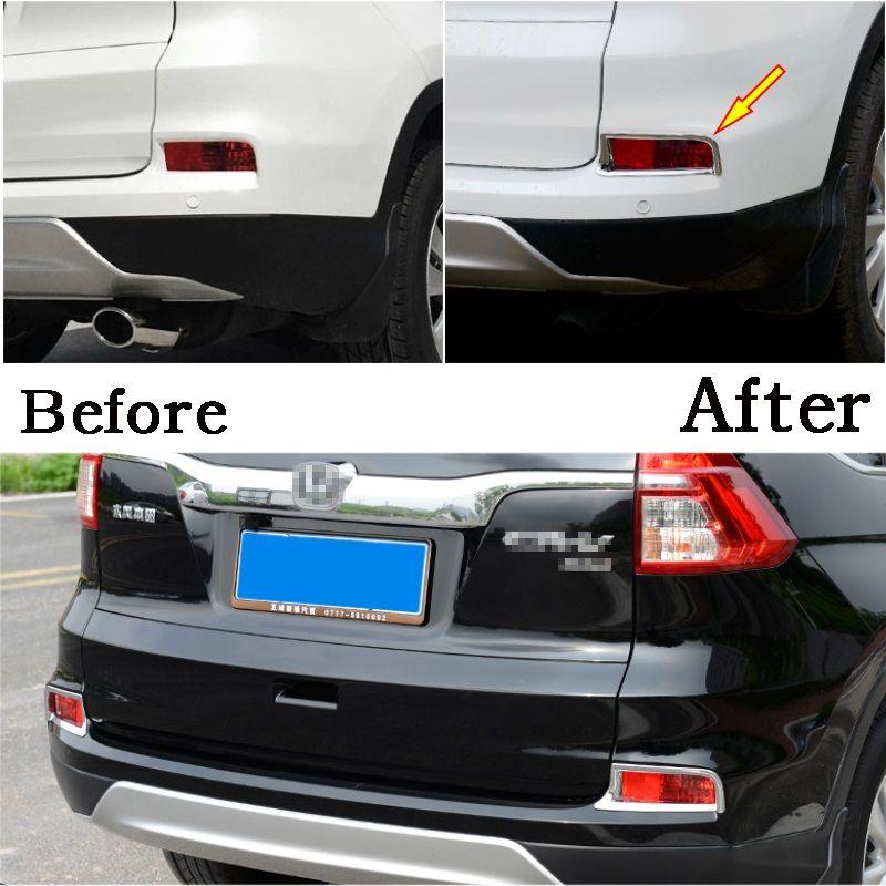 2015 for Honda CRV CR-V Rear Tail Fog Light Lamp Covers Trim Decoration ABS 2pcs