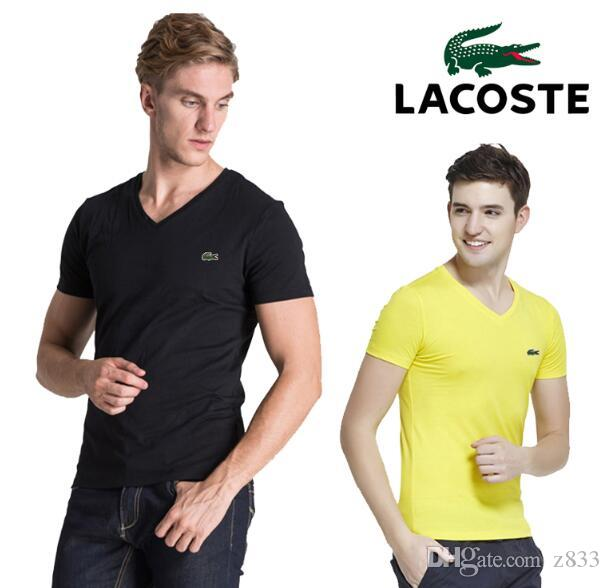 2019 Mens de las camisas de algodón 100% Negro Blanco Gris Armada superior original se divierte la camiseta de manga corta de gran tamaño