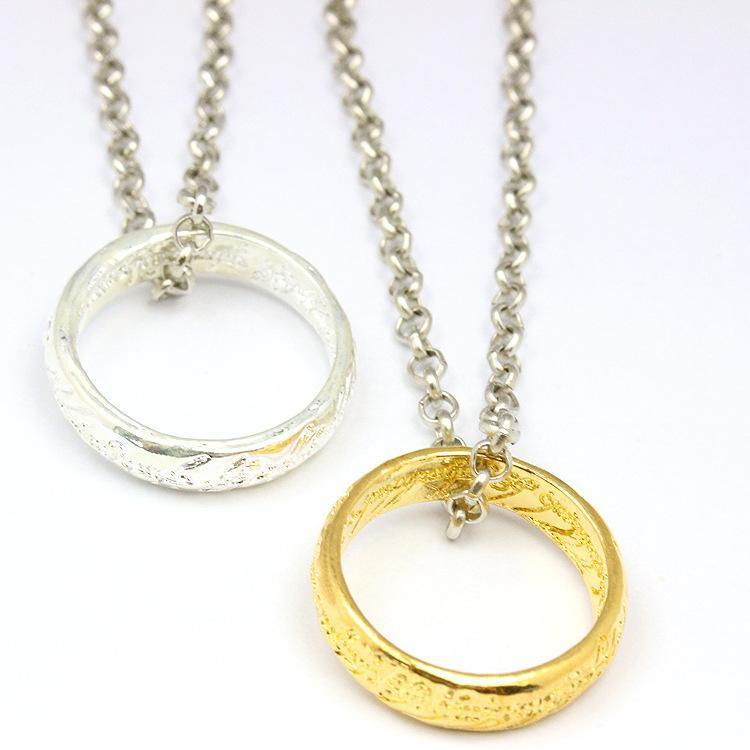 Finger-Ring-Halskette Der Herr der Ringe Halskette Film Ornaments Charme Legierungs-Finger-Ring-Anhänger-Halskette