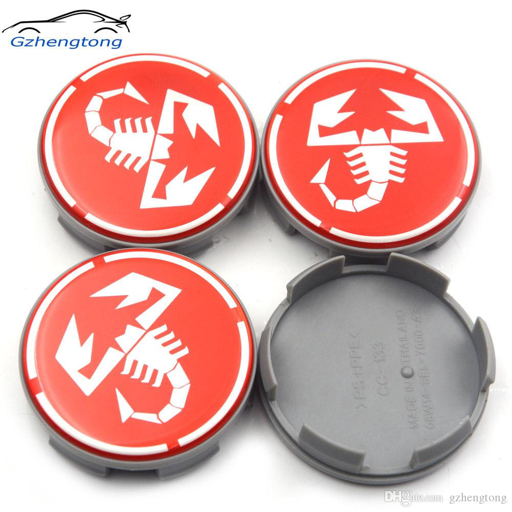 Gzhengtong Red Scorpion 4pc 58mm Auto-Rad-Mitte-Kappen-Auto Styling 08W14-SEL-7000-A3 Für Civic Rad-Mitte-Radkappen