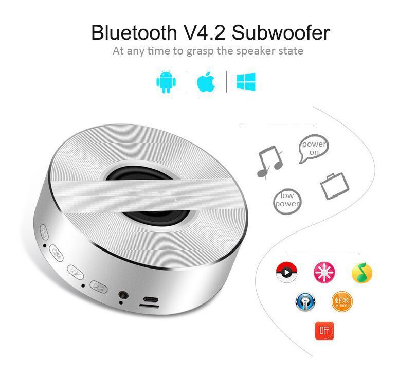 A5 Mini Wireless Bluetooth Speaker Portable NoteBook Subwoofer Speakers Music Mp3 Bass Stereo Loudspeaker for Phone Laptop car Speaker