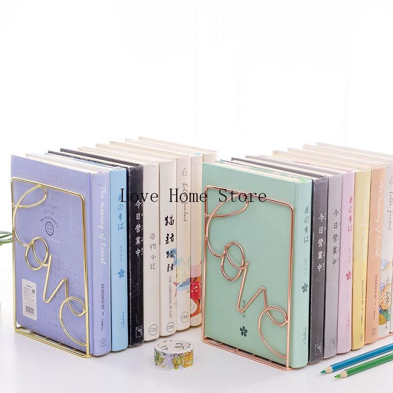 1pair Heavy Duty Metal Bookends Book Ends Home School Office Stationery