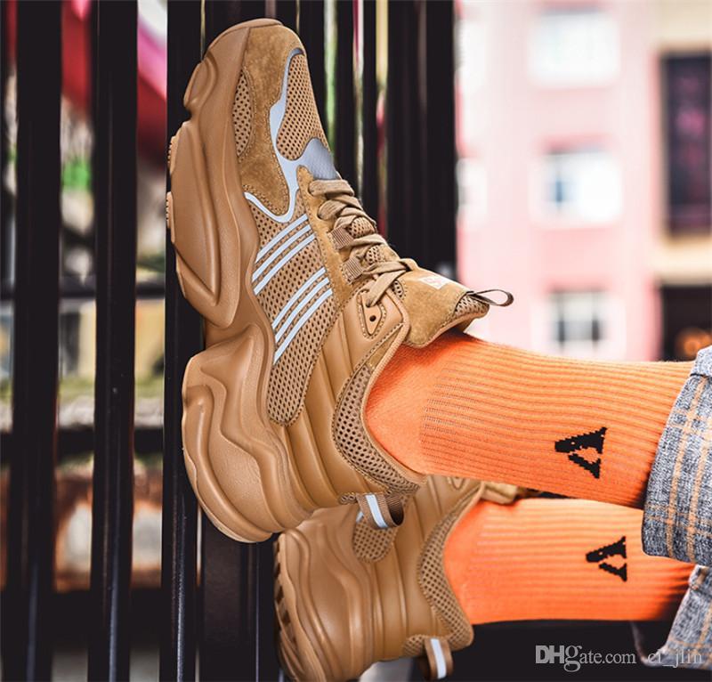 De haute qualité 2019 chaud vente à bas prix volant jeunesse sauvage hip-hop baskets quatre couleurs de chaussures de créateurs de mode respirant hommes chaussures de sport