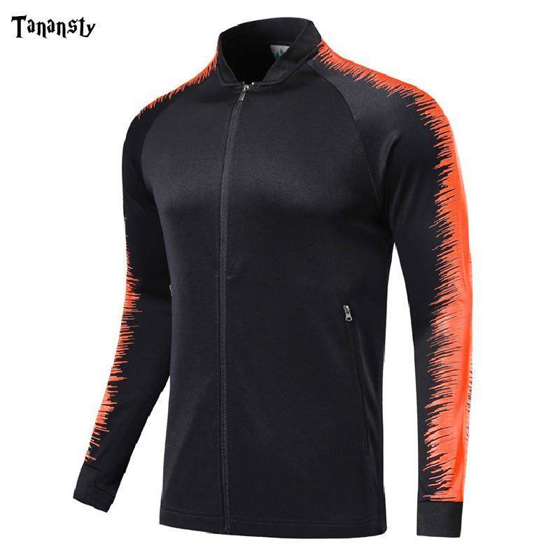 Men tracksuit football Jacket Zipper soccer for team training sport Jackets Football Shirts Jerseys adult futbol training top