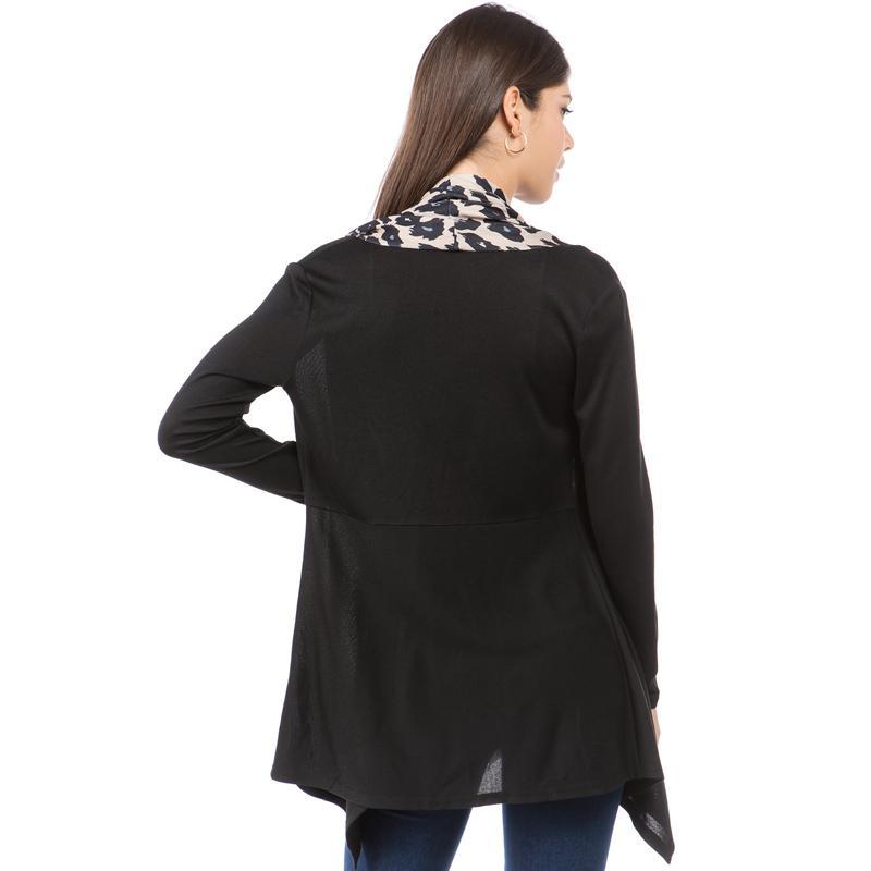 Trench Spring Coat Women Leopard Cardigans Long Sleeve Cropped Knit Top Windbreaker Windproof Woman Streetwear