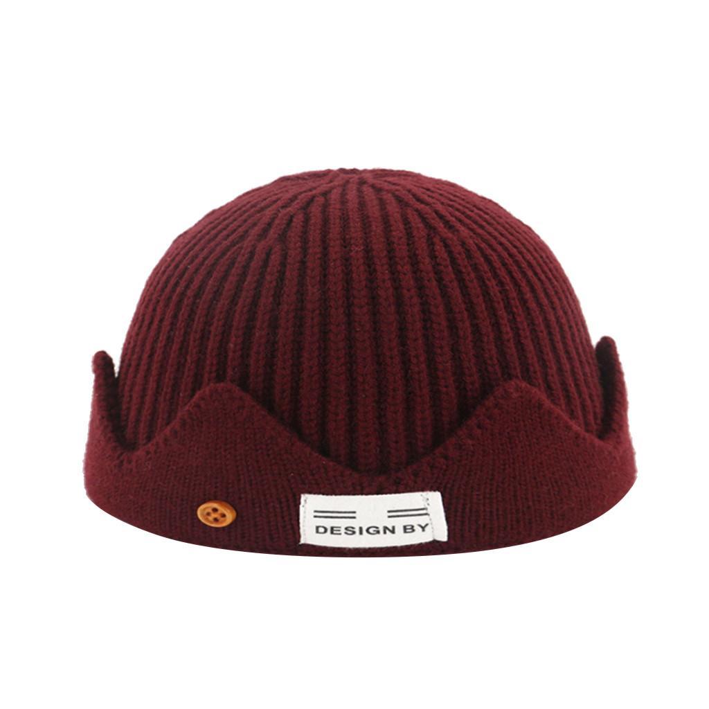 SAGACE Örme şapka sonbahar ve kış yün kavun deri kap sıcak başlık erkekler ve kadınlar şapka Sıcak moda birden çok renk