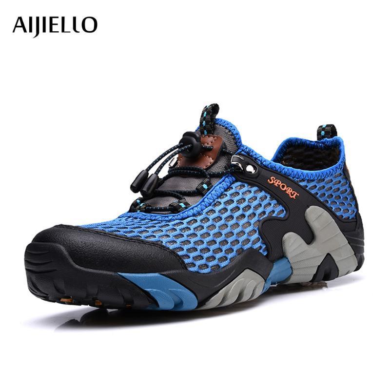 Memba Yürüyüş Ayakkabı Yürüyüş Açık Spor Nefes Big Tırmanma Erkekler Yaz Büyük boyut için Atletik Ayakkabı-Hızlı Kurutma örgü