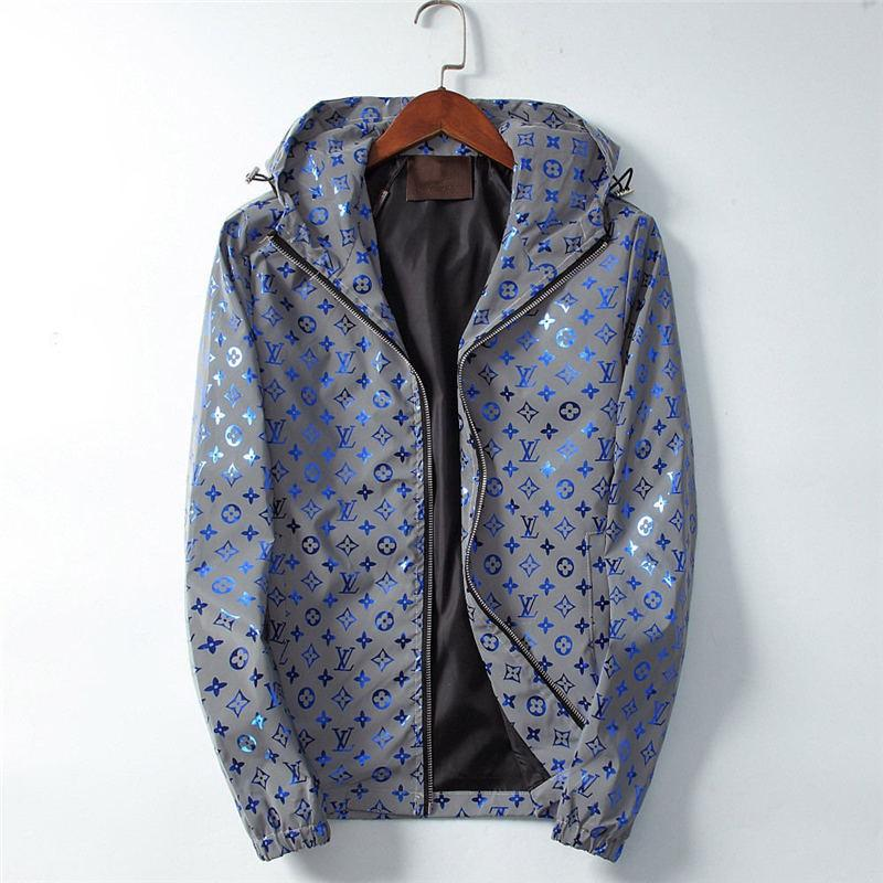 Jacket Moda exterior coloridos Bengal Tiger Blue Jungle Outono sunproof Windproof impermeável Homens Mulheres Luxo Zipper Anti UV casaco de pele de