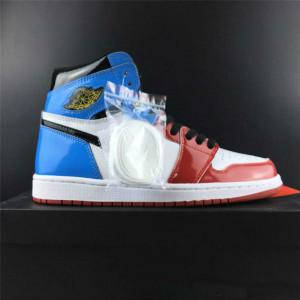 Hotsale 1 Haut OG Sans Peur First Class Rouge Bleu Chaussures Hommes Basketball 1S UNC Chicago en cuir verni sport Chaussures de sport