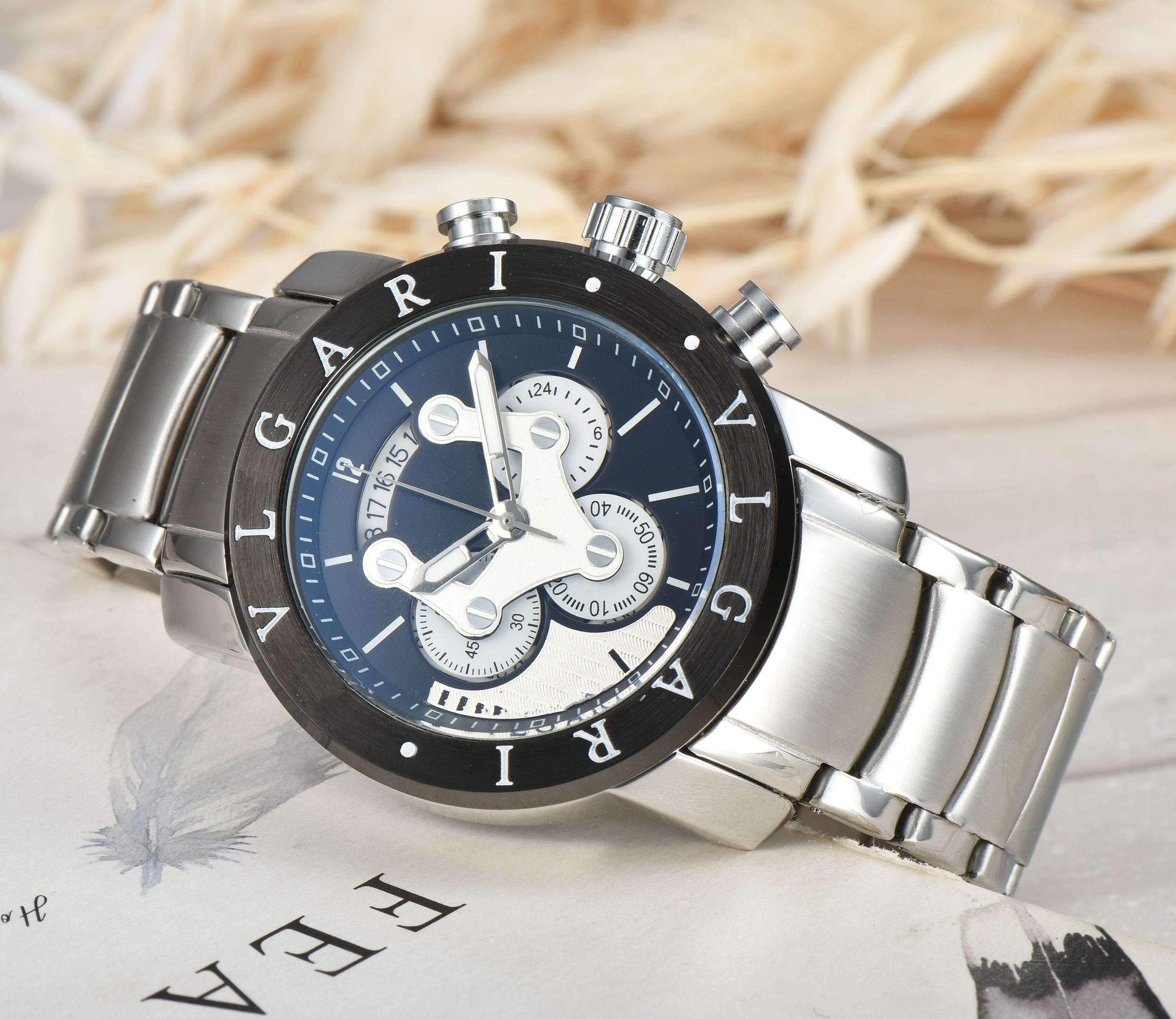 Élégant Casual Montre Homme de haute qualité Bracelet en acier inoxydable Calendrier Sport Business Style Quartz Relojes Hombre hommes
