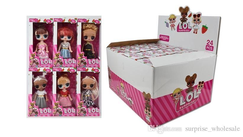 5,5 Zoll mit fruchtigem Aroma PVC Kawaii Kinder Barbie Spielzeug Anime Action-Figur Realistische Reborn-Puppen Geschenk für Mädchen 6 Styles 24X / box