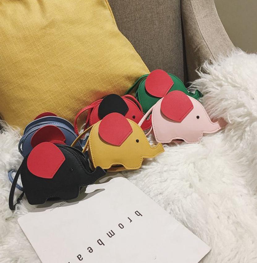 Детские моды кошельки плеча животные мини Kka7908 сумки мультфильм слон цепи девушки тела PU на день рождения подарки монеты мешок крест chbmh