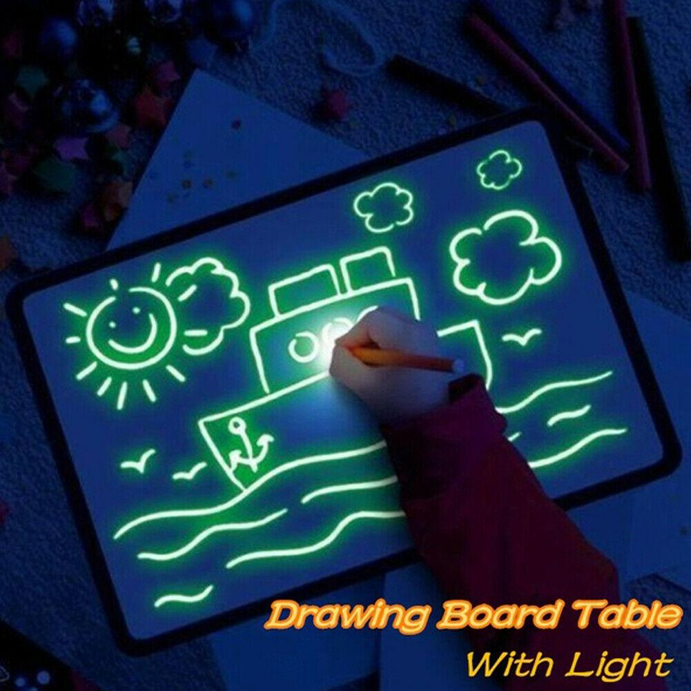 Kids Boys Girls Draw With Light Fun And Developing Toy Drawing Board Magic Draw