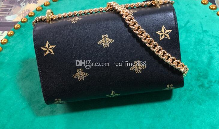 Realfine888 Star Bag Cadeado Poeira Bee Mulheres, com ombro pequeno Mini 5a para 20cm Número, DHL Bag + Box + Serial 432182 Frete Grátis Etqqm