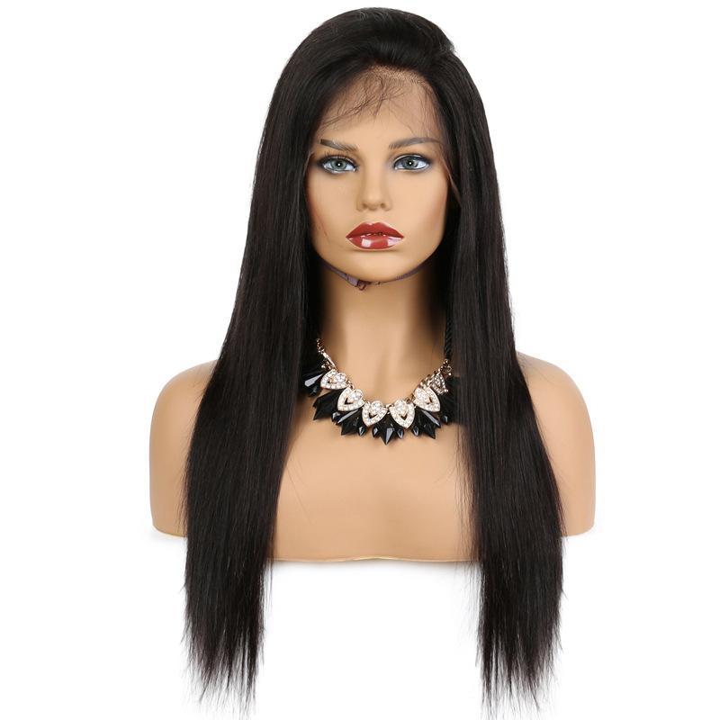 Transfrontalière exclusive Amazon Hot perruque européenne et américaine Femmes longue ligne droite avant de dentelle perruque de cheveux Coiffures Usine de gros