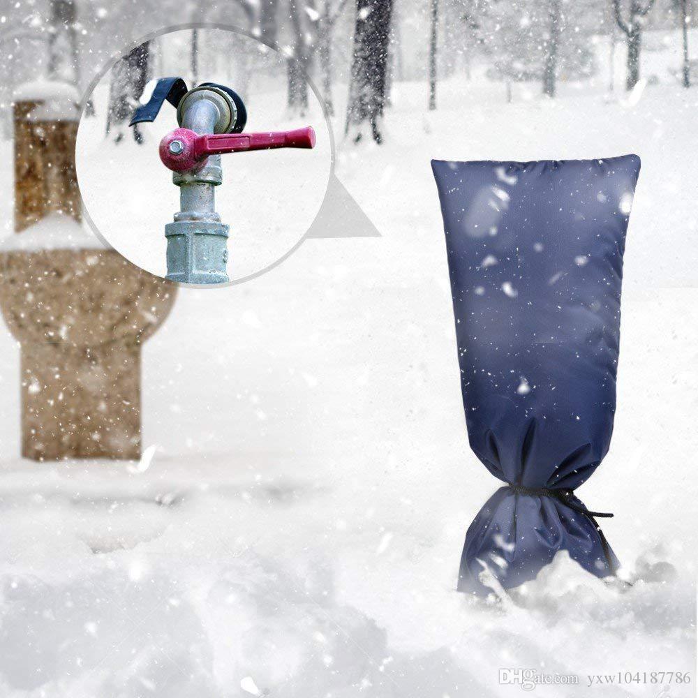 Grifo de agua al aire libre del protector de grifo cubierta exterior espesado grifo Anticongelante cubierta Jardín Tap aislamiento protector impermeable