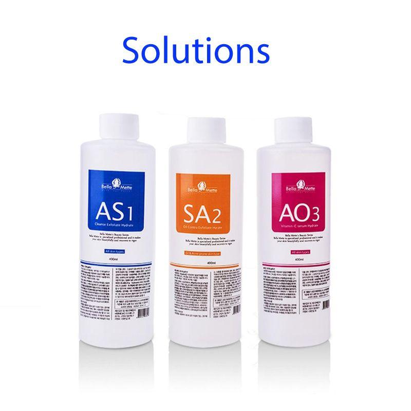 AQUA solución exfoliante para la hidra de agua dermoabrasión piel grasa y normal para toda la piel
