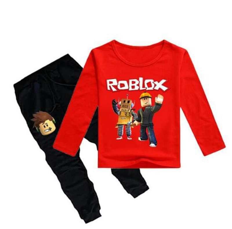 2020 Children Roblox Game Print Sports Suit Boy T Shirt Pants