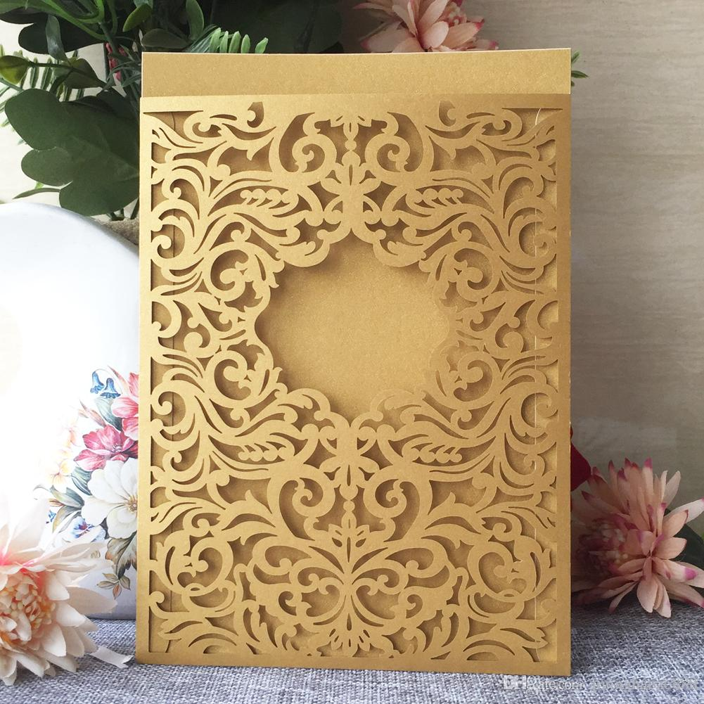 25PCS /lot Hollow Luxury Envelop Exquisite Royal Wedding Invitation Card Universal Festival Birthday Party Invitations Thanksgiving Gift
