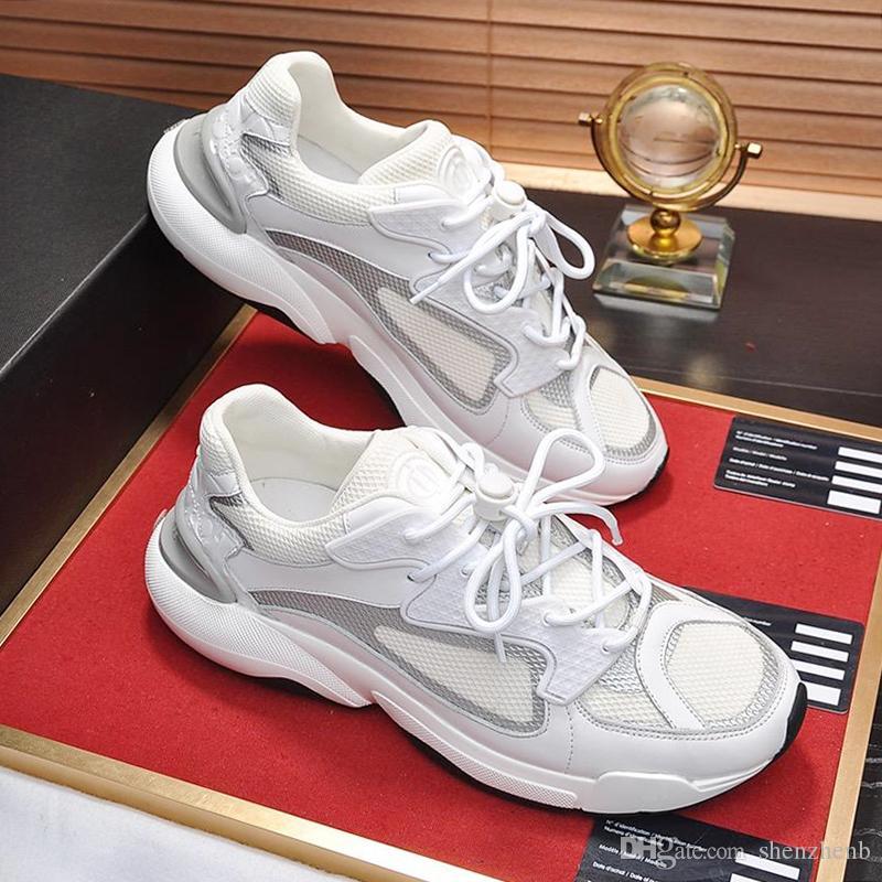 Zapatos B24 zapatilla de deporte de alta calidad del Mens nuevo otoño y el invierno de llegada del tamaño extra grande para deportes Footwears del zapato con cordones-top zapatos cómodos ocasionales de los hombres