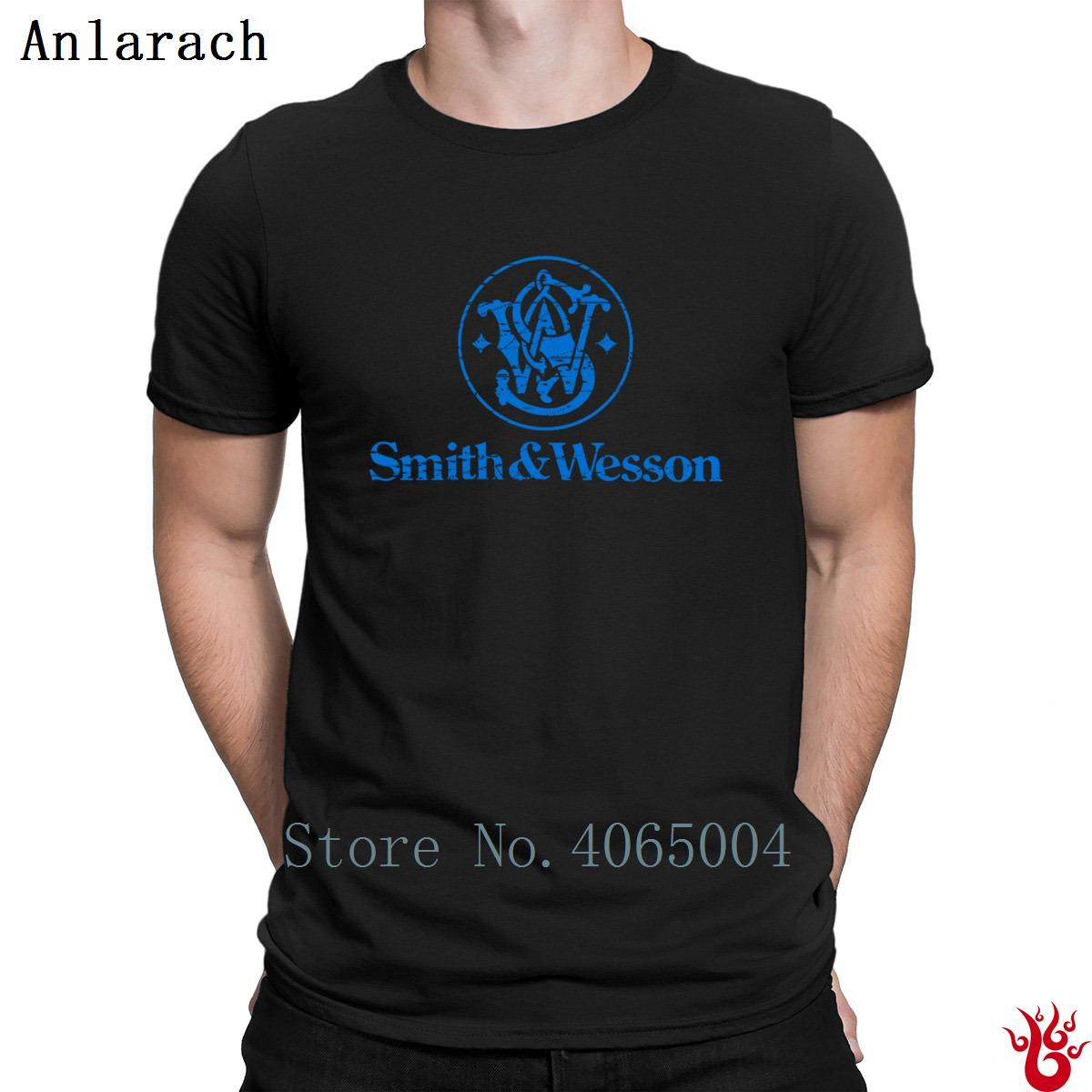 Smith And Wesson's Ampw T-Shirt Hip Hop Printed Crazy Streetwear Men Tshirt 2018 Round Collar Comfortable 100% Cotton Letter