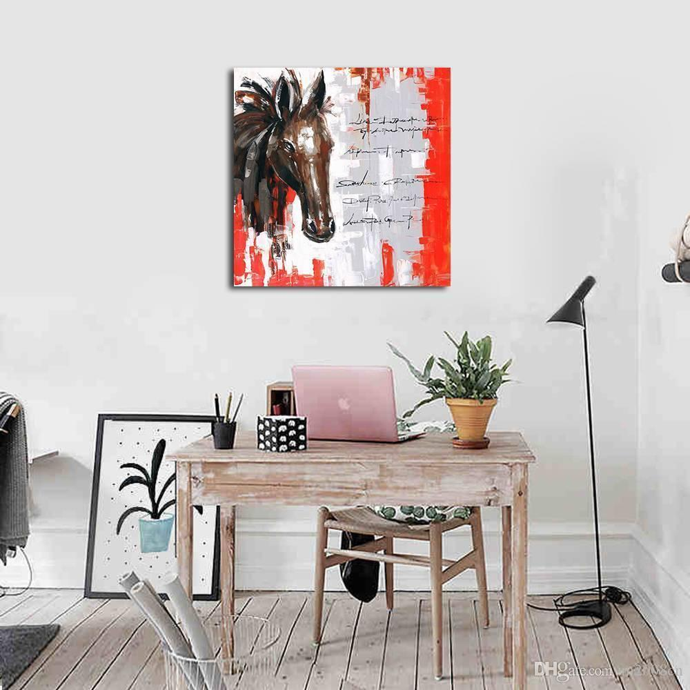 Modern Abstract Hand Painted & HD Print Wall Art Animal Oil Painting Abstract Horses Home Deco On High Quality Canvas Multi Sizes a131