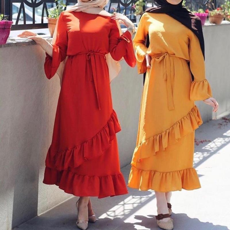 Ramazanya Eid Mübarek Kadınlar Dubai Abaya Türkiye Başörtüsü Müslüman Elbise Kaftan Kaftan İslam Giyim Ropa Mujer Vestido Musulman de Mode