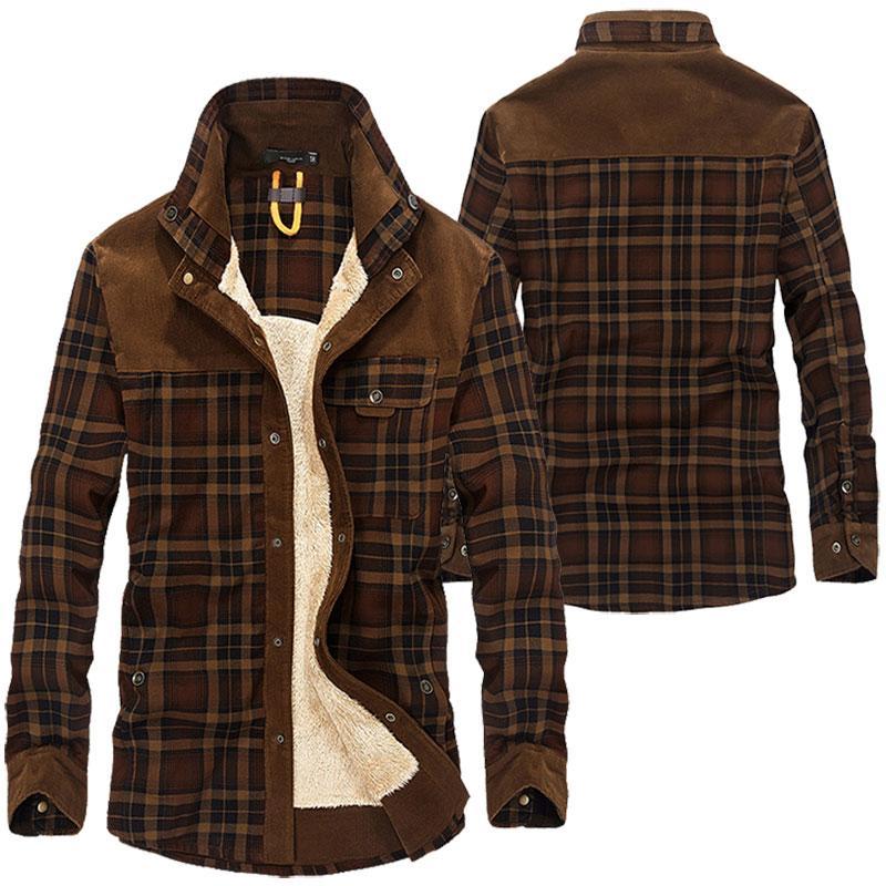 2020 새로운 남자의 따뜻한 재킷 양털 두꺼운 육군 코트 가을 겨울 자켓 남성 슬림 맞춤 의류 남성 의류