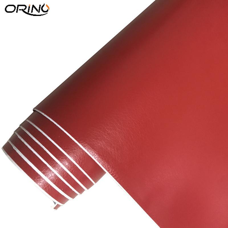 *Black Leather Grain Texture Cabinet Vinyl Car Wrap Sticker Decal Film Sheet
