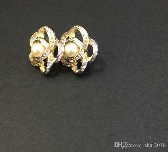 camelia orecchini classici della vite prigioniera della qualità Hight per orecchini gioielli donne per il matrimonio Fornire borsa di flanella per il regalo