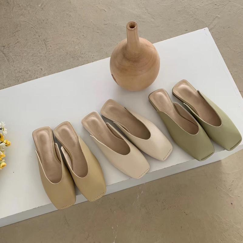 toppies faux pantofole in pelle eleganti scarpe piattaforma quadrata mocassini Copripunta CX200618