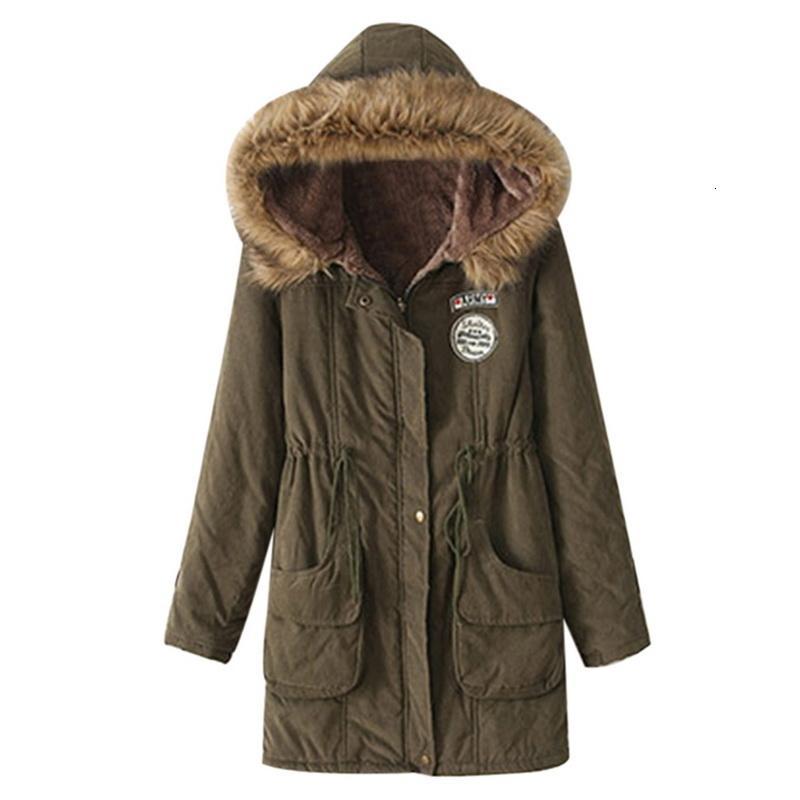 CYSINCOS 2019 Women Long Slim Jacket Casual Women Parka Fashion Warm Padded Jacket Long Female Winter Jacket Hooded Plus Size V191022